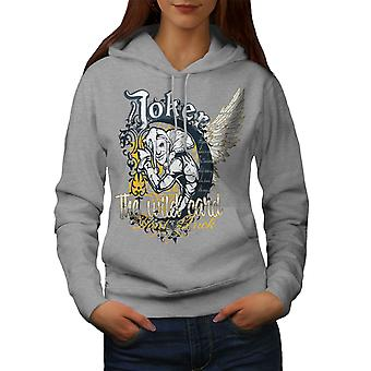 Laugh Card Gamble Women GreyHoodie | Wellcoda