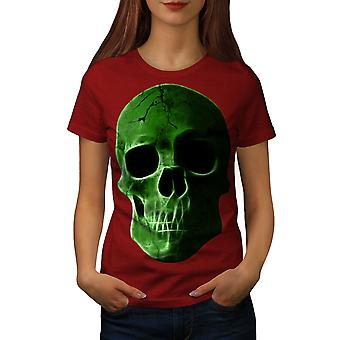 Green Skeleton Rock Skull Women RedT-shirt | Wellcoda