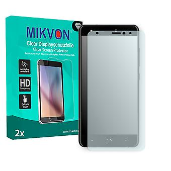 BQ Aquaris X Screen Protector - Mikvon Clear (Retail Package with accessories) (intentionally smaller than the display due to its curved surface)