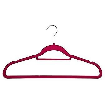 Caraselle Huggable Hanger in Plum with Tie/Belt Bar & Notches 45cm