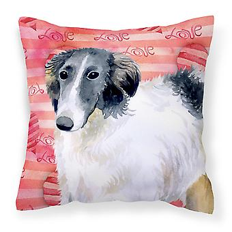Carolines Treasures  BB9759PW1414 Borzoi Love Fabric Decorative Pillow