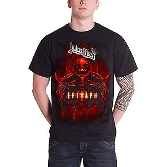Judas Priest Mens T Shirt Black Epitaph Red Horns band logo Official