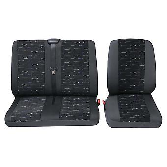 Commercial van single and double seat covers Opel Movano Van Seat Covers - Blue
