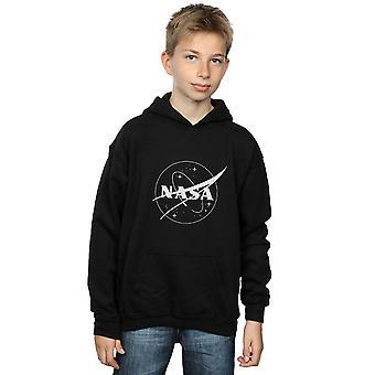 NASA Boys Classic Insignia Logo Monochrome Hoodie