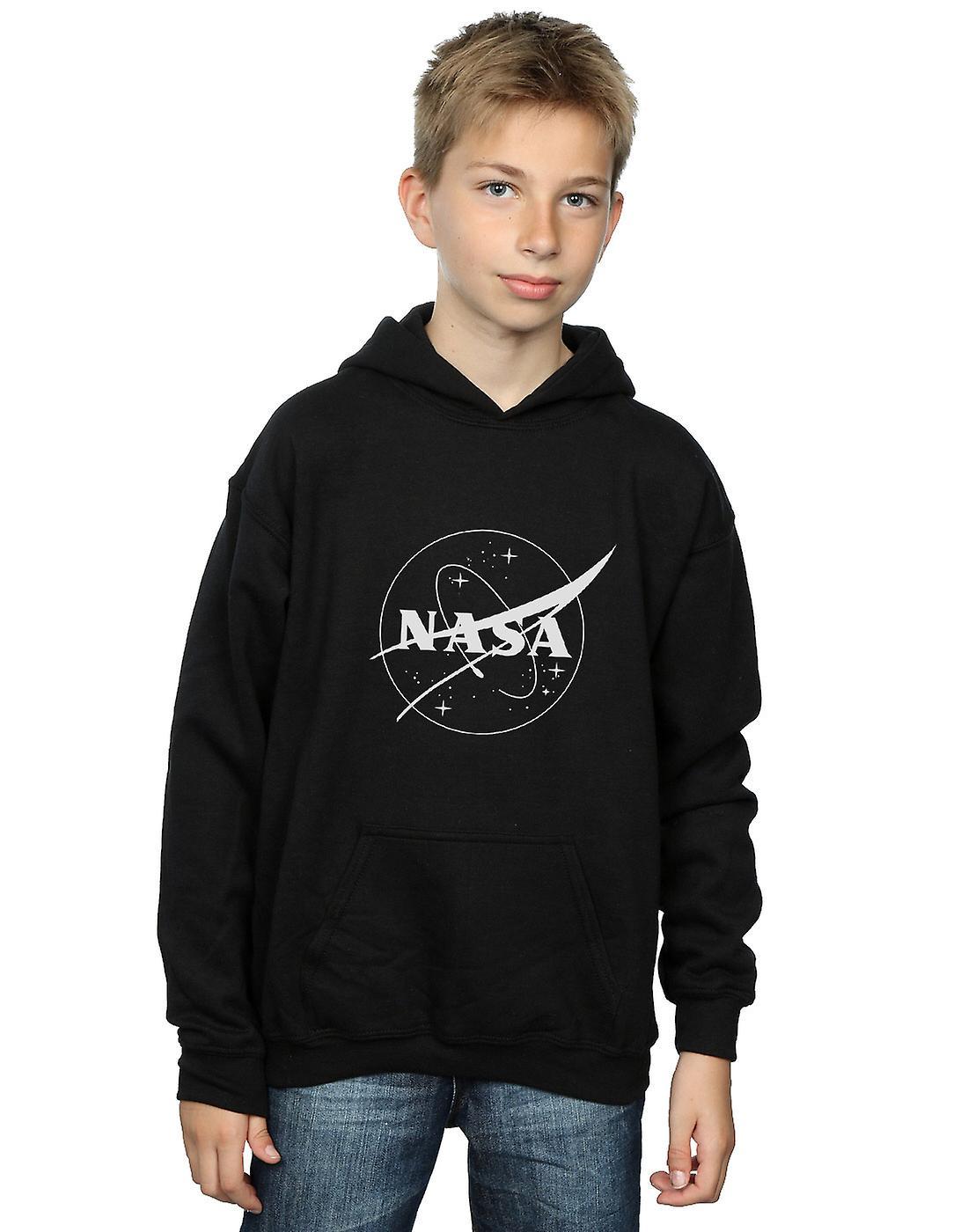 Monochroom Logo-Hoodie van de NASA jongens-klassieke Insignia