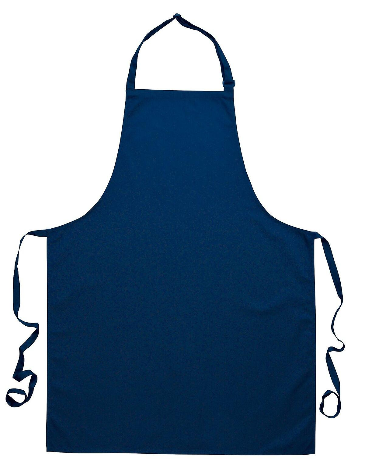 PORTWEST PolyCotton Bib Apron - Navy One Size Chef Catering Work Apron