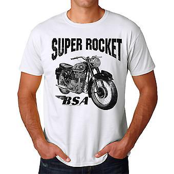 BSA Super Rocket motorcykel mænds hvid T-shirt