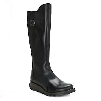 Fly London Womens Black Mol 2 Leather Boots