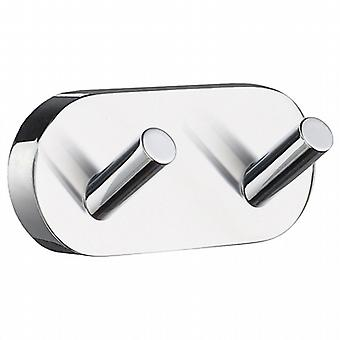 Home Double Towel Hook - Polished Chrome HK356