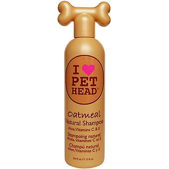 Pet Head Oatmeal Natural Dog Shampoo 354ml Natural Dog Shampoo Aloe, Vitamin C&E