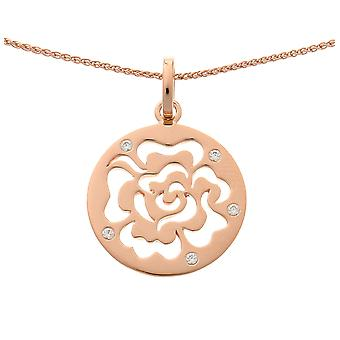 Orphelia Silver 925 Chain With Pendant Rosegold Plated Zirconium  ZH-7079/1