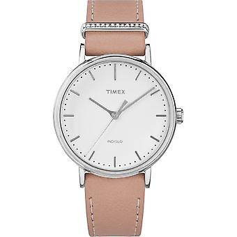 Timex ladies watch Fairfield Crystal 37 mm leather bracelet TW2R70400