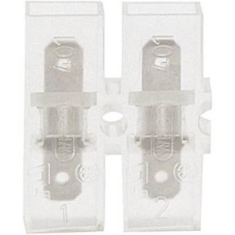 Klauke 8052 Blade connector Connector width: 4.8 mm Connector thickness: 0.8 mm 180 ° Insulated Transparent 1 pc(s)