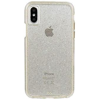 Case-Mate Sheer Glam iPhone X Case - Champagne Gold