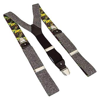 40 Colori Zig Zag Wool Braces - Grey