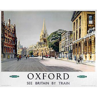 Oxford Broad St. (Old Rail Ad.) Mounted Print For Framing