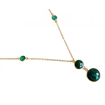 Gemshine Women's Necklace Pendant 925 Silver Plated Emerald Green