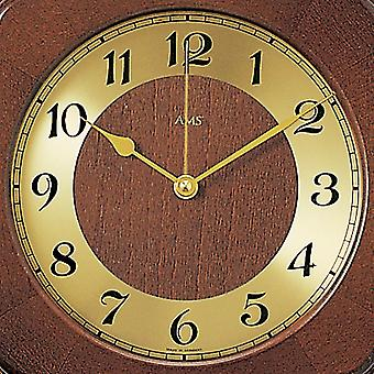 modern rustic radio controlled wall clock wall clock radio pendulum wooden cabinet Walnut lacquered