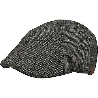 Barts Mens Martinique Wool Blend Adjustable Newsboy Flat Cap