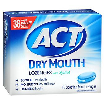 Act total care dry mouth lozenges, mint, 36 ea
