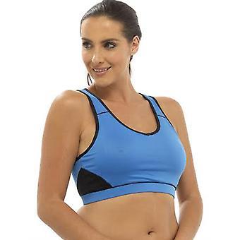 Ladies Tom Franks Two Tone Sport Gym Crop Top Fashion Sportswear