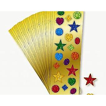 12 Mini Sheets of Jewel Stickers for Kids Crafts & Party Bags