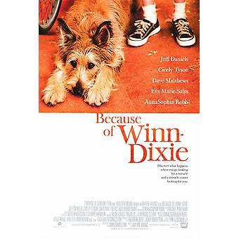 En raison de l'affiche du film Winn Dixie (11 x 17)