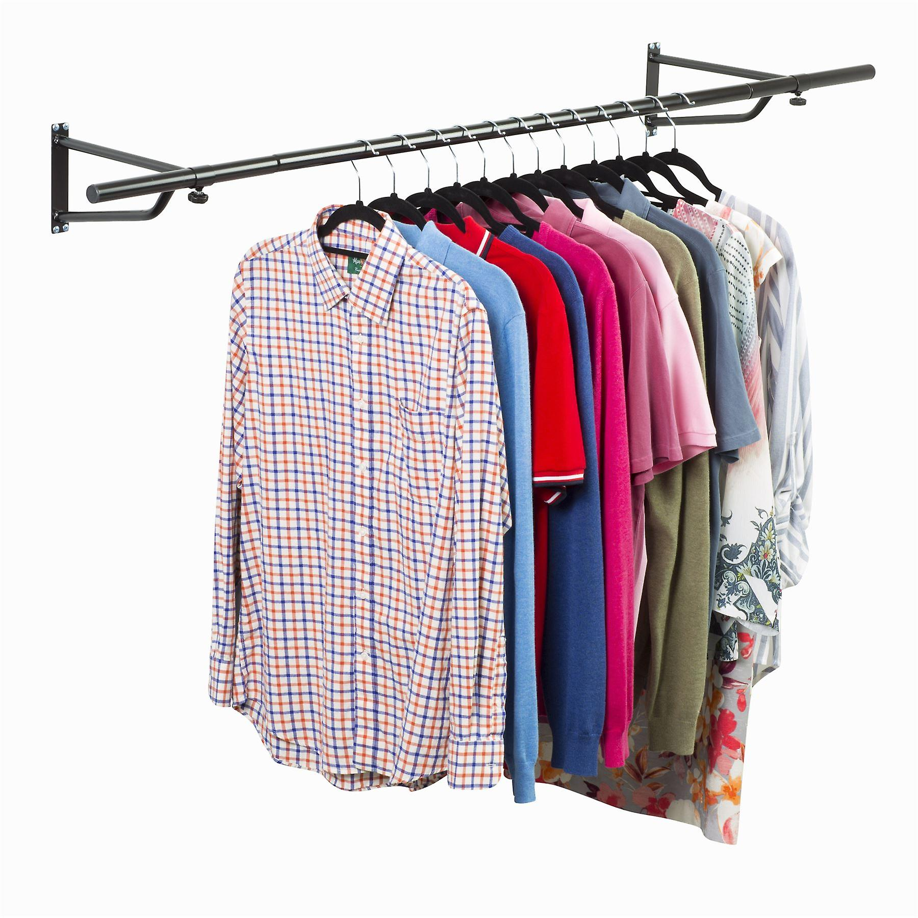 5ft Garment Rail In Black Powder Coating