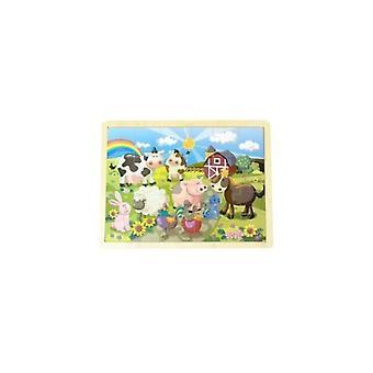 Einfach für Kinder 36164 Holz puzzle Bauernhof