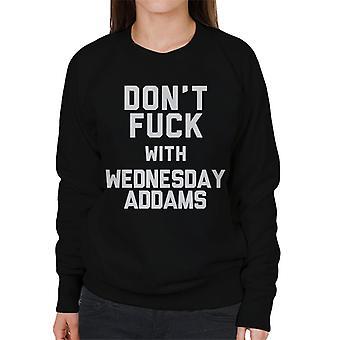 No jodas miércoles Addams sudadera mujer