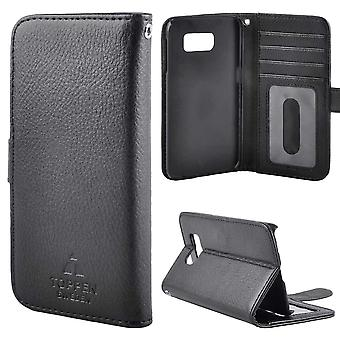 The TOP Left-handed Wallet Pouch Samsung Galaxy S8 Black