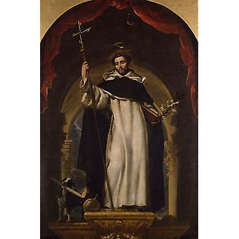 St. Dominic de Guzman, Claudio COELLO, 40x60cm mit Tablett