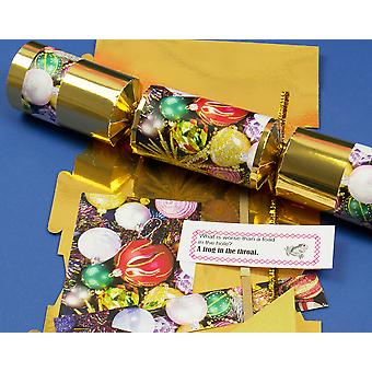 Single Make Your Own Traditional Gold Christmas Cracker Craft Kit