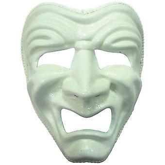 Sad Mask. White.