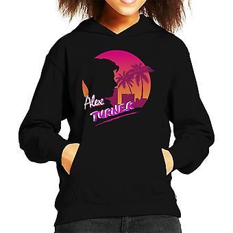 Alex Turner 80s Sunset Kid's Hooded Sweatshirt