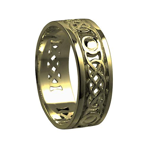 9ct Gold 8mm gents Celtic Wedding ring