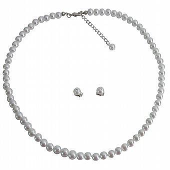 Junior brudtärna smycken glatt vackra vita pärlor smycken som 3eb9b86c27bb5