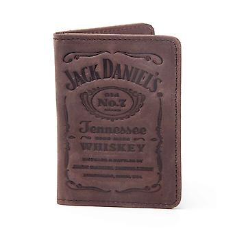 Jack Daniels Card Wallet Debossed Classic Old No 7 Logo new Official Brown