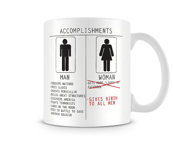 Men And Women Accomplishments Printed Mug