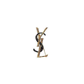 Saint Laurent schwarz/Gold Messing Pin