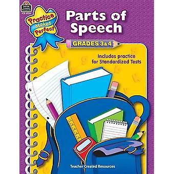 Parts of Speech Grades 3-4 by Sarah - 9780743933391 Book