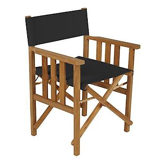 Gardenista® Black Replacement Directors Chair Canvas Cover