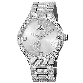 Joshua & Sons Men's Quartz Watch with Etched Dial and Etched Bracelet JS99SS
