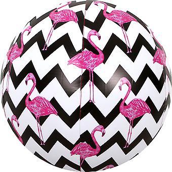 Jumbo zigzag Flamingo Beach ball