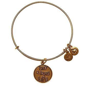 Alex et Ani vivent une vie heureuse bracelet en or A12EB33RG