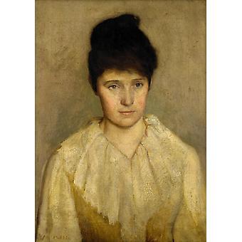 Mary Jane Moriarty,Frederick Mccubbin,60x43cm