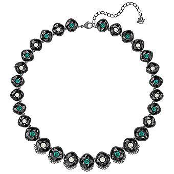 Swarovski Black Baroque Necklace - Multi-colored - Ruthenium Plated - 5490986