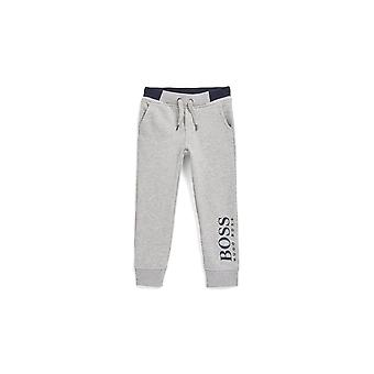 Hugo Boss Boys Grey And Navy Jogging Bottoms