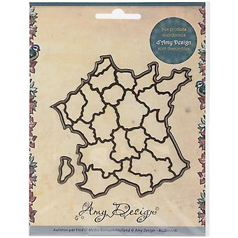 Find It Trading Amy Design Map Die-France ADD10006