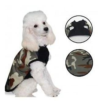 Yagu Layered Green Coat In Camouflage By Yagu (Dogs , Dog Clothes , Coats)